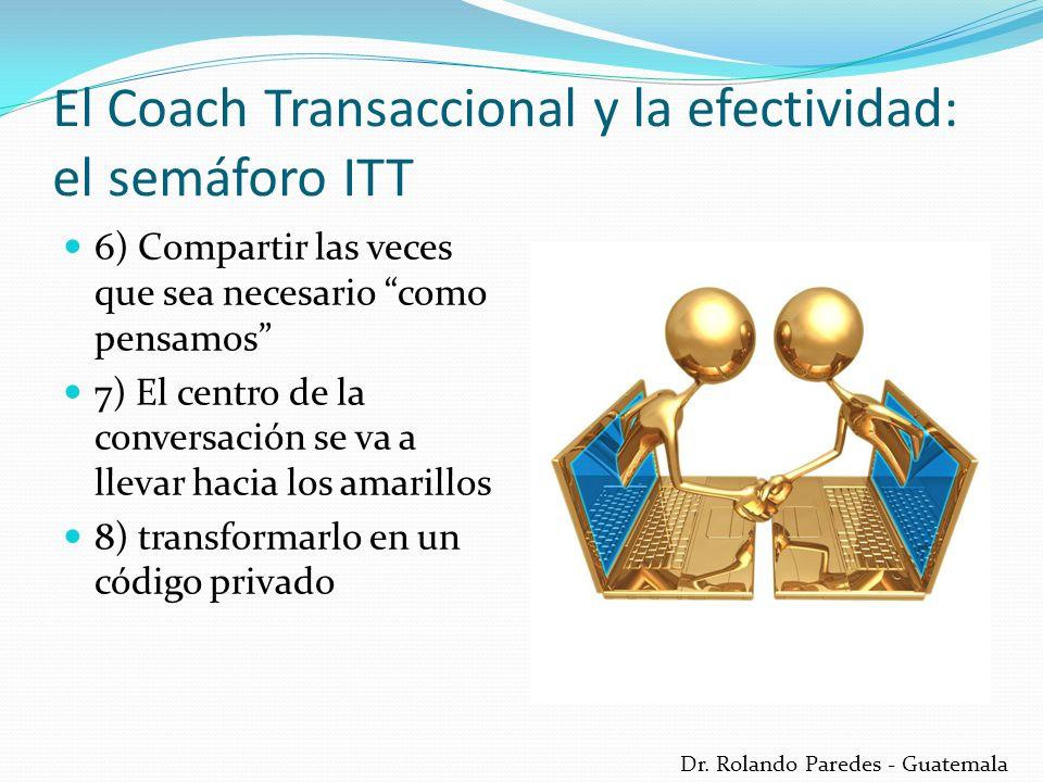 Dr. Rolando Paredes - Guatemala 6) Compartir las veces que sea necesario como pensamos 7) El centro de la conversación se va a llevar hacia los amaril