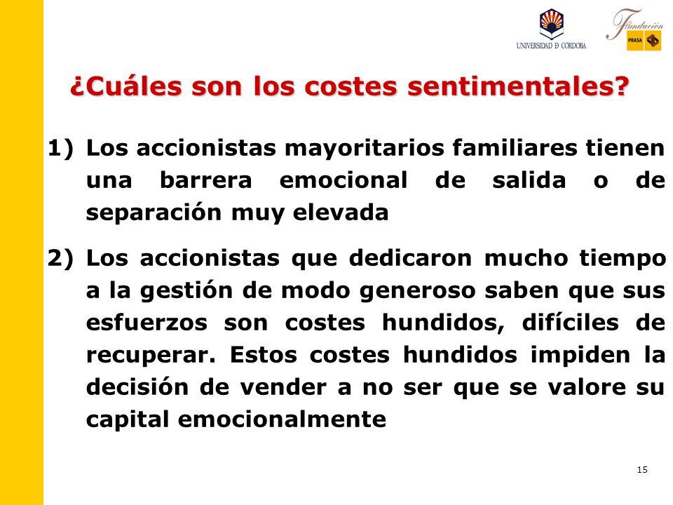 14 ¿Cuáles son los beneficios sentimentales? (IV) 6) 6)El compromiso afectivo con la empresa es en realidad un apego, caracterizado por la identificac