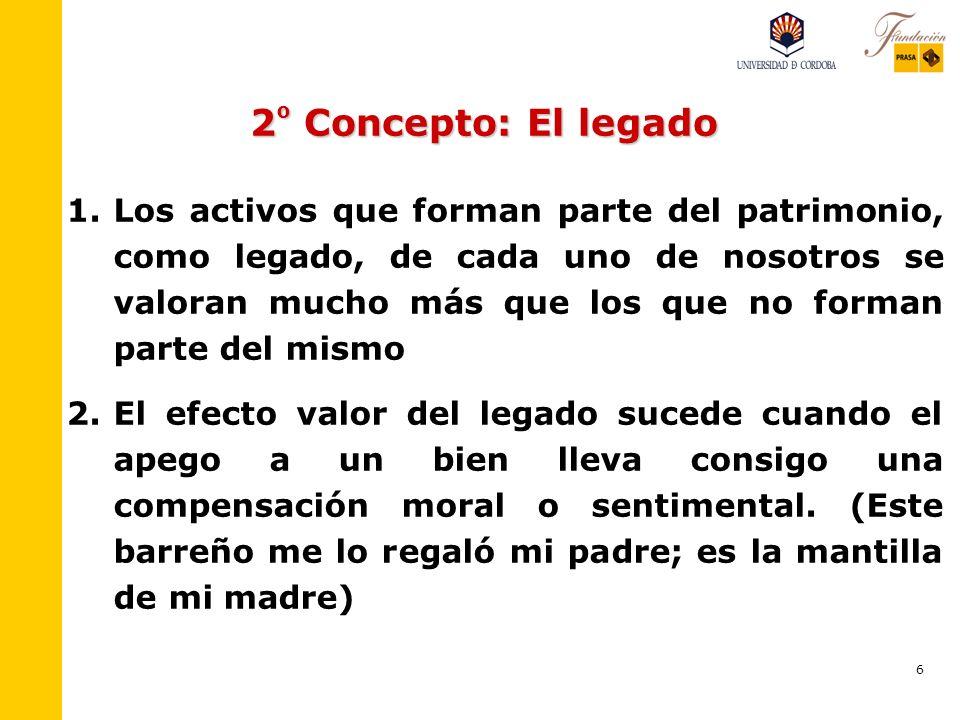 6 2 º Concepto: El legado 1.