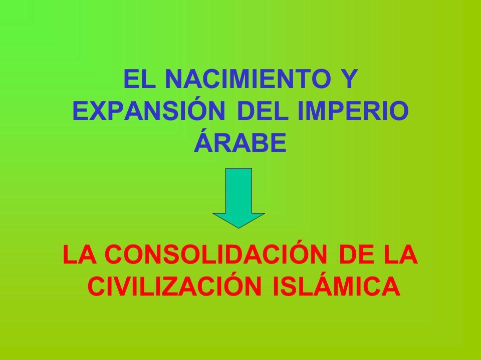 EL NACIMIENTO Y EXPANSIÓN DEL IMPERIO ÁRABE LA CONSOLIDACIÓN DE LA CIVILIZACIÓN ISLÁMICA