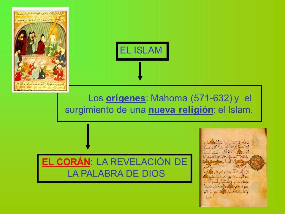 Los orígenes: Mahoma (571-632) y el surgimiento de una nueva religión: el Islam. EL ISLAM EL CORÁN: LA REVELACIÓN DE LA PALABRA DE DIOS