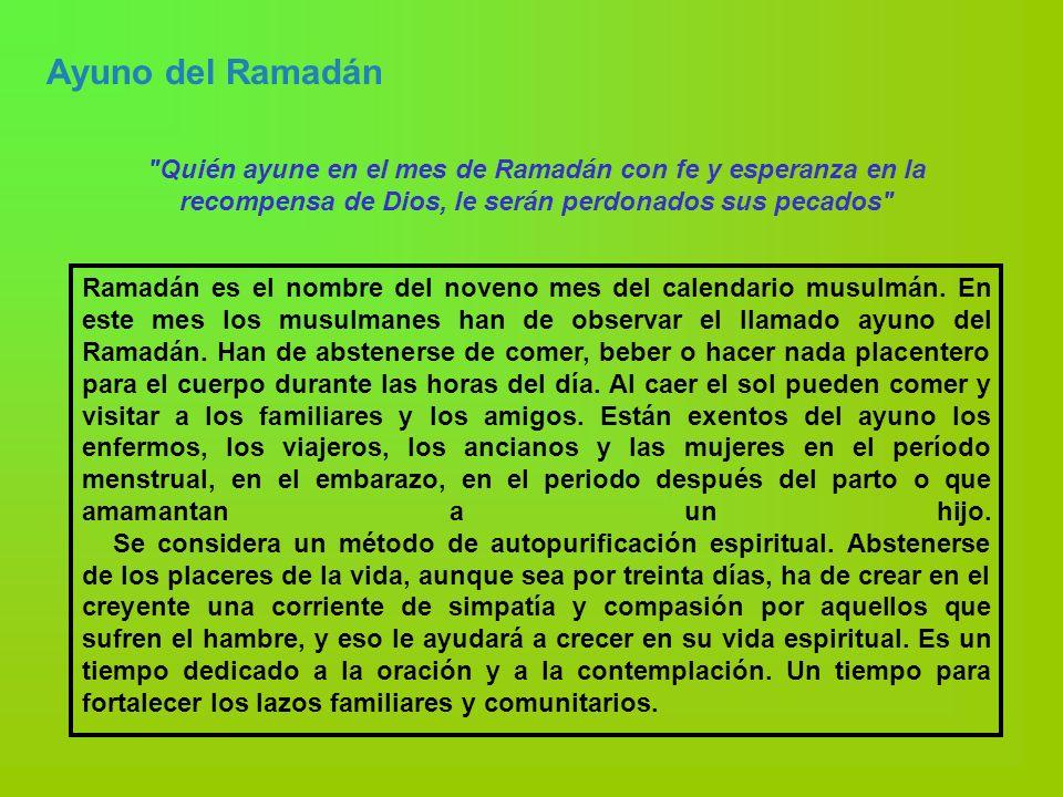 Ayuno del Ramadán