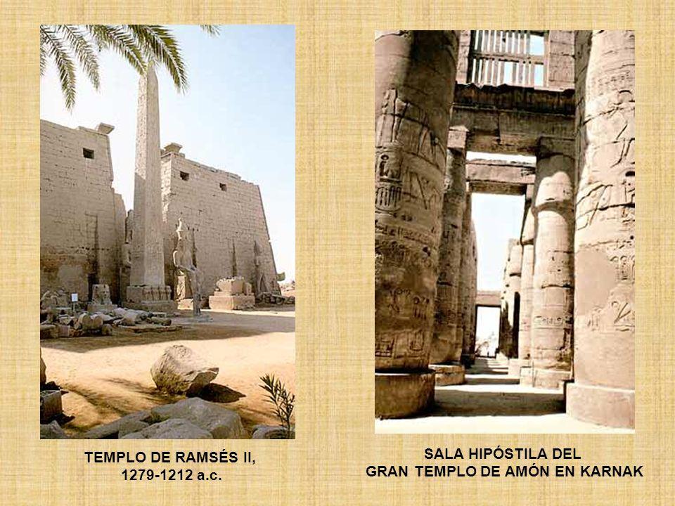 TEMPLO DE RAMSÉS II, 1279-1212 a.c. SALA HIPÓSTILA DEL GRAN TEMPLO DE AMÓN EN KARNAK