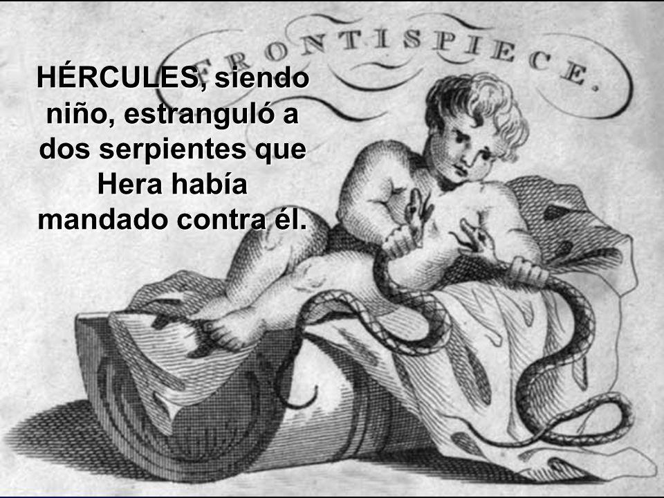 Hércules amantado en el seno de Hera.