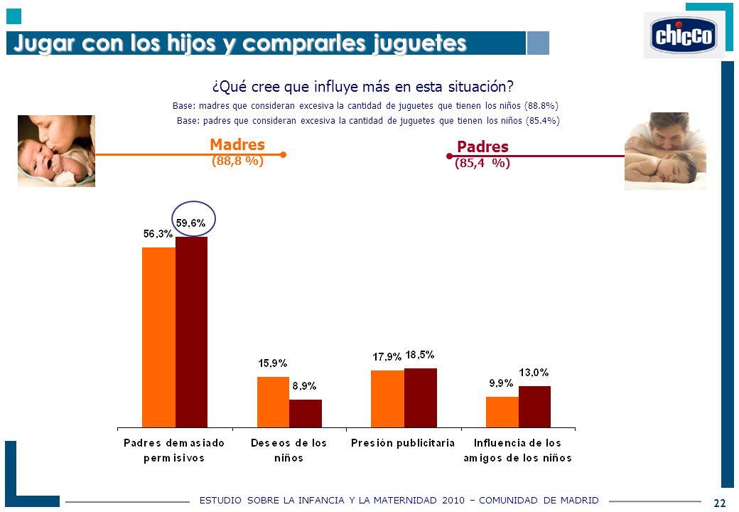 ESTUDIO SOBRE LA INFANCIA Y LA MATERNIDAD 2010 – COMUNIDAD DE MADRID 22 ¿Qué cree que influye más en esta situación.