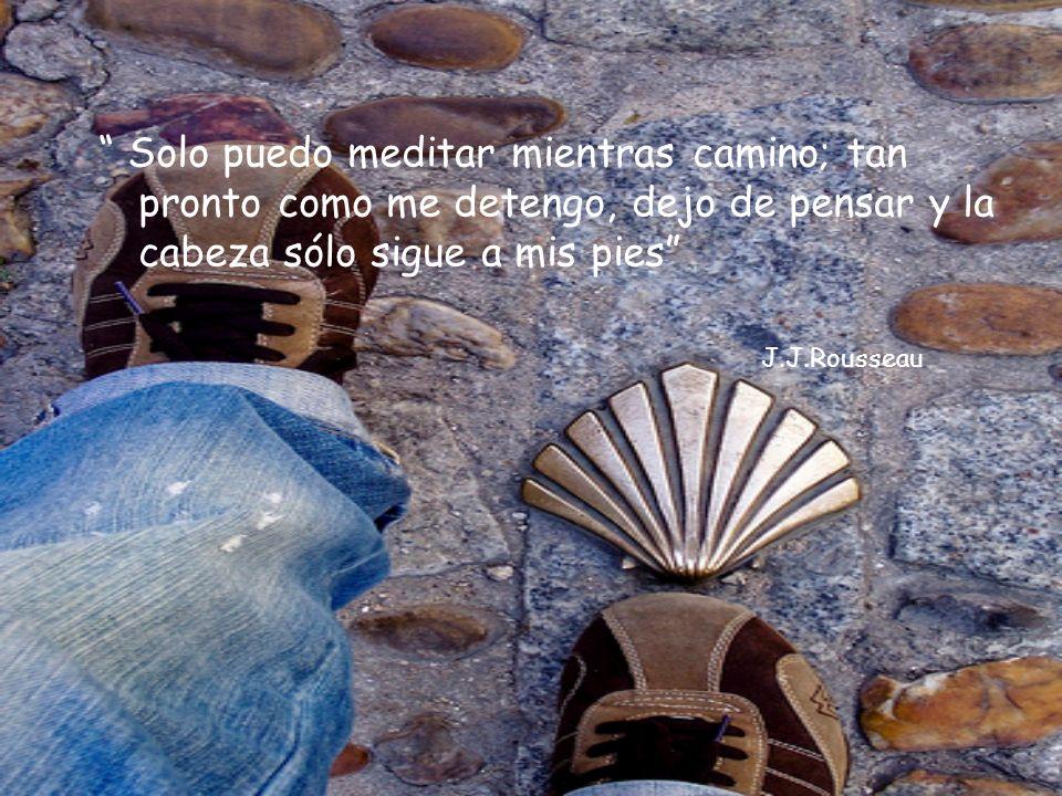 Solo puedo meditar mientras camino; tan pronto como me detengo, dejo de pensar y la cabeza sólo sigue a mis pies J.J.Rousseau