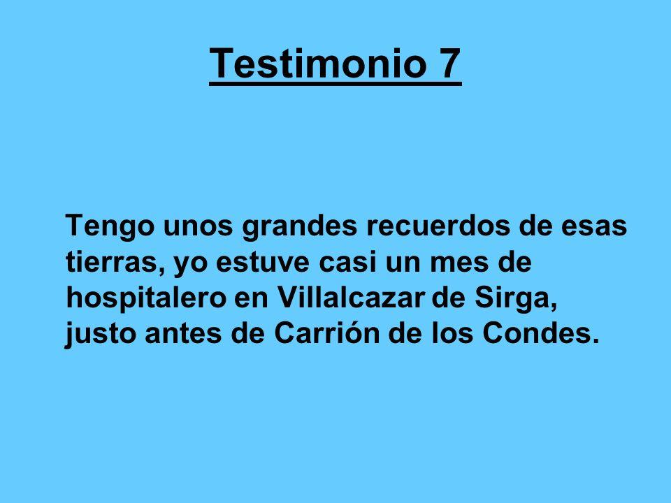 Testimonio 8 El camino de Santiago me enganchó en el año santo de 1.999, y digo lo de enganchó, pues desde ese año me he convertido en peregrino impenitente, habiendo realizado el recorrido desde León, de donde soy natural, diez años seguidos.
