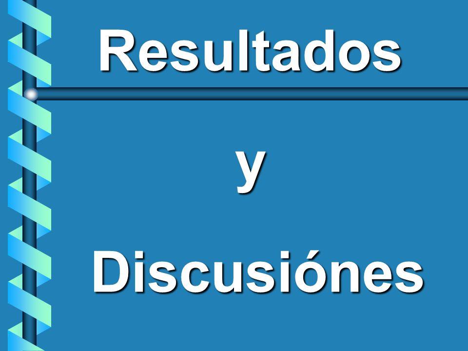 Resultados y Discusiónes