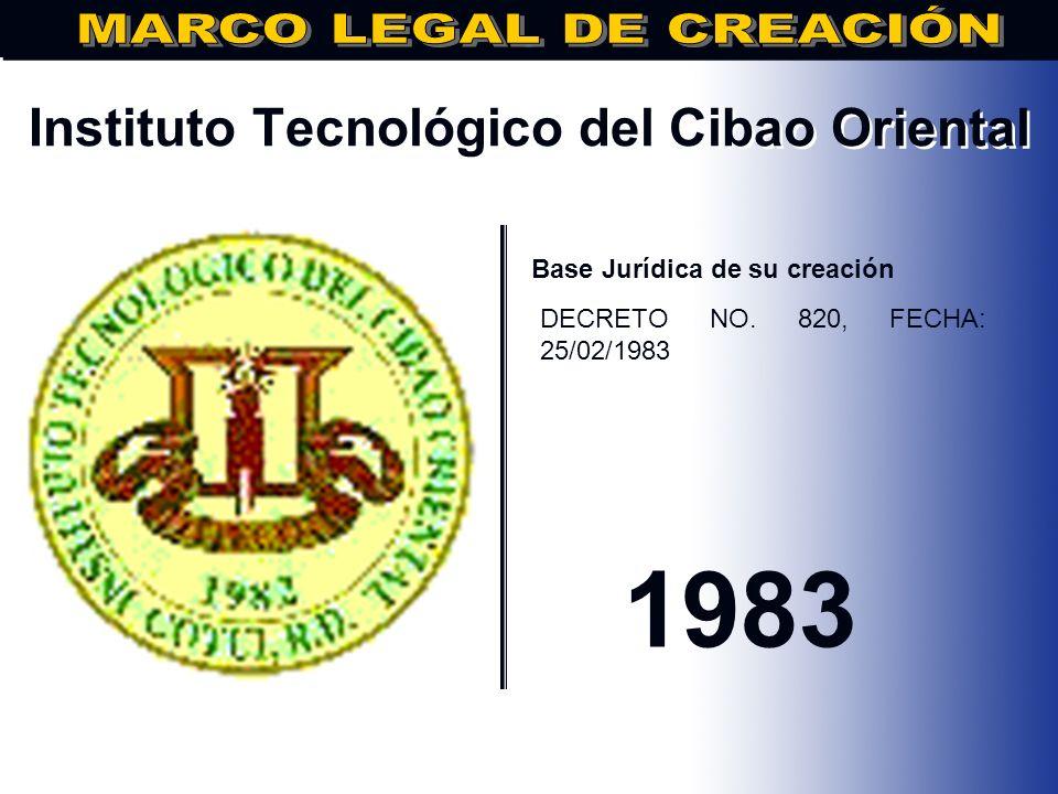 Universidad Iberoamericana.. Base Jurídica de su creación DECRETO No.3371, DE FECHA 07/12/1982 1538
