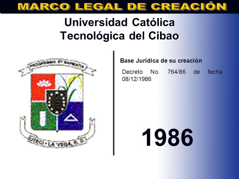 Universidad Nacional Evangélica.. Base Jurídica de su creación DECRETO No.652, DE FECHA 30/07/1986 1986