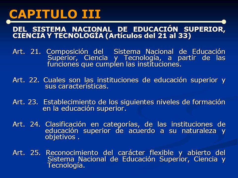 CAPITULO III CAPITULO III