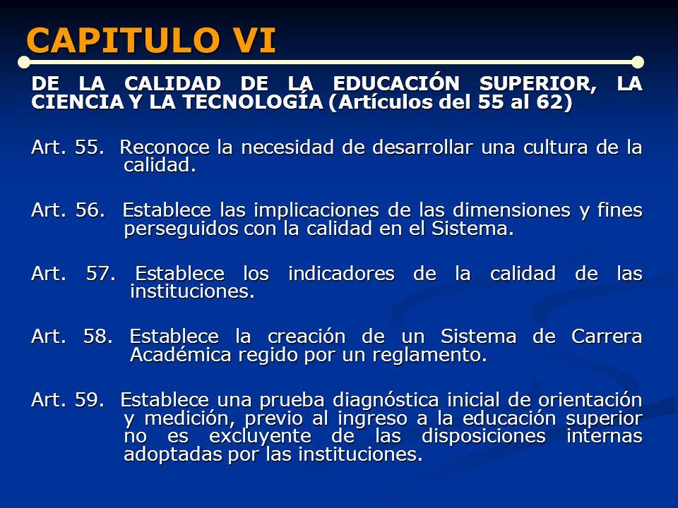 CAPITULO VI CAPITULO VI