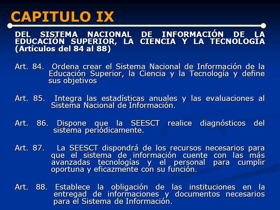 CAPITULO IX CAPITULO IX