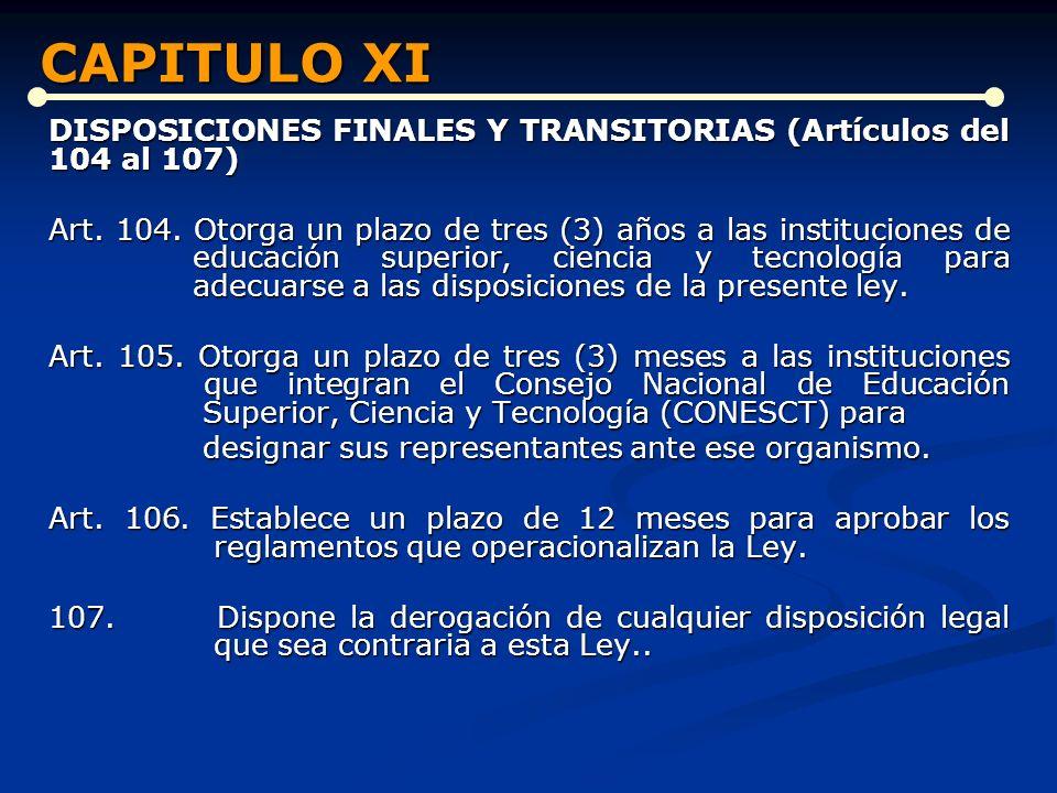 CAPITULO XI CAPITULO XI