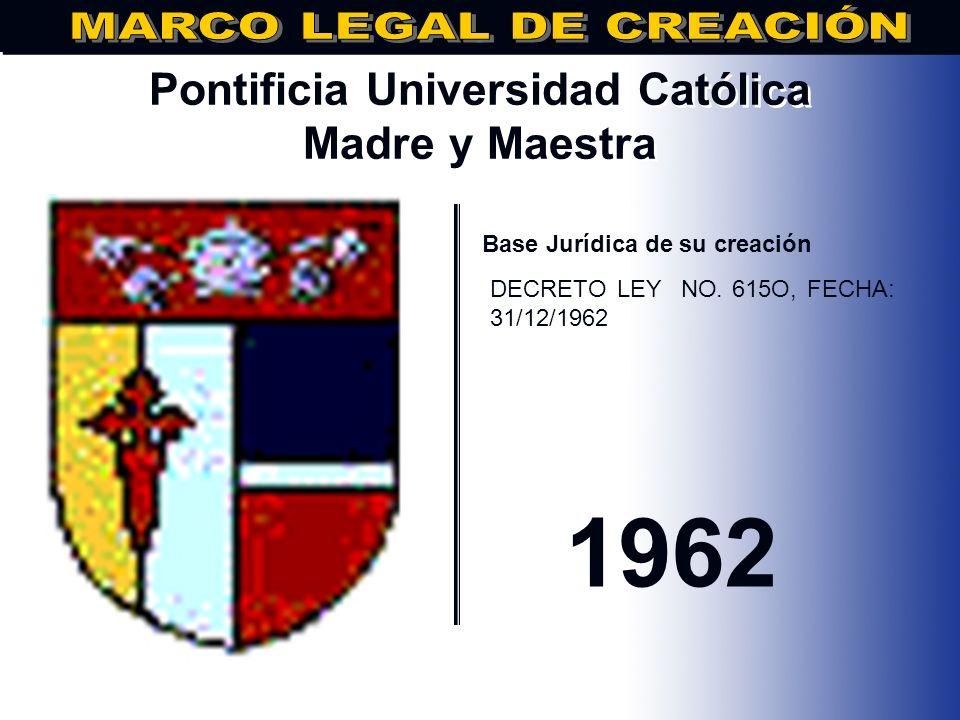 Universidad Autónoma de Santo Domingo.. Base Jurídica de su creación Bula Papal In Apostolatus Culmine de fecha 28 de octubre de 1538 Ley de Autonomía