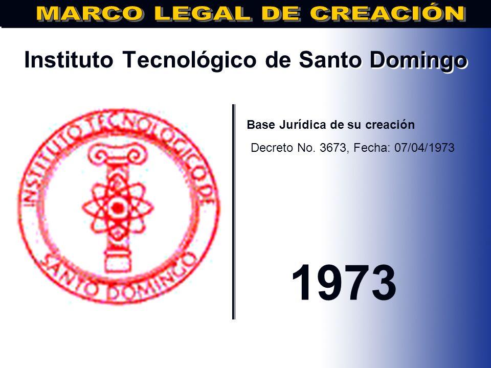 Universidad Central del Este.. Base Jurídica de su creación DECRETO No. 1205 DE FECHA 07/03/71 1971