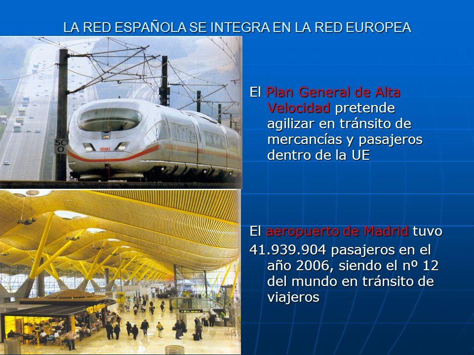 LA RED ESPAÑOLA SE INTEGRA EN LA RED EUROPEA El Plan General de Alta Velocidad pretende agilizar en tránsito de mercancías y pasajeros dentro de la UE