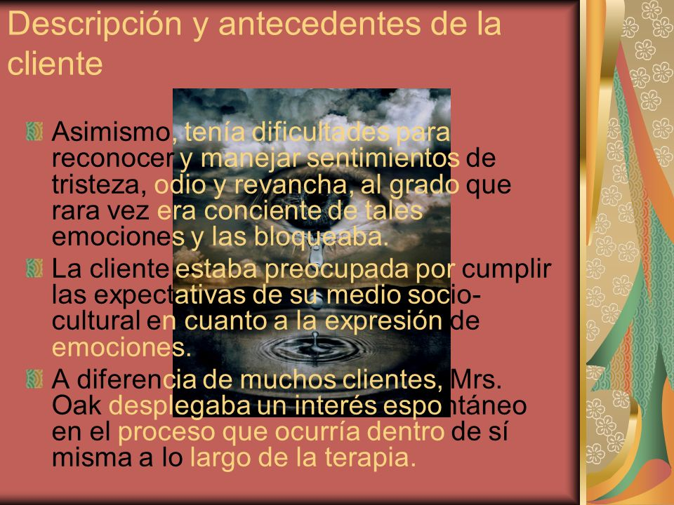 Referencias Corey, G.(2004). Theory and Practice of Counseling and Psychotherapy.