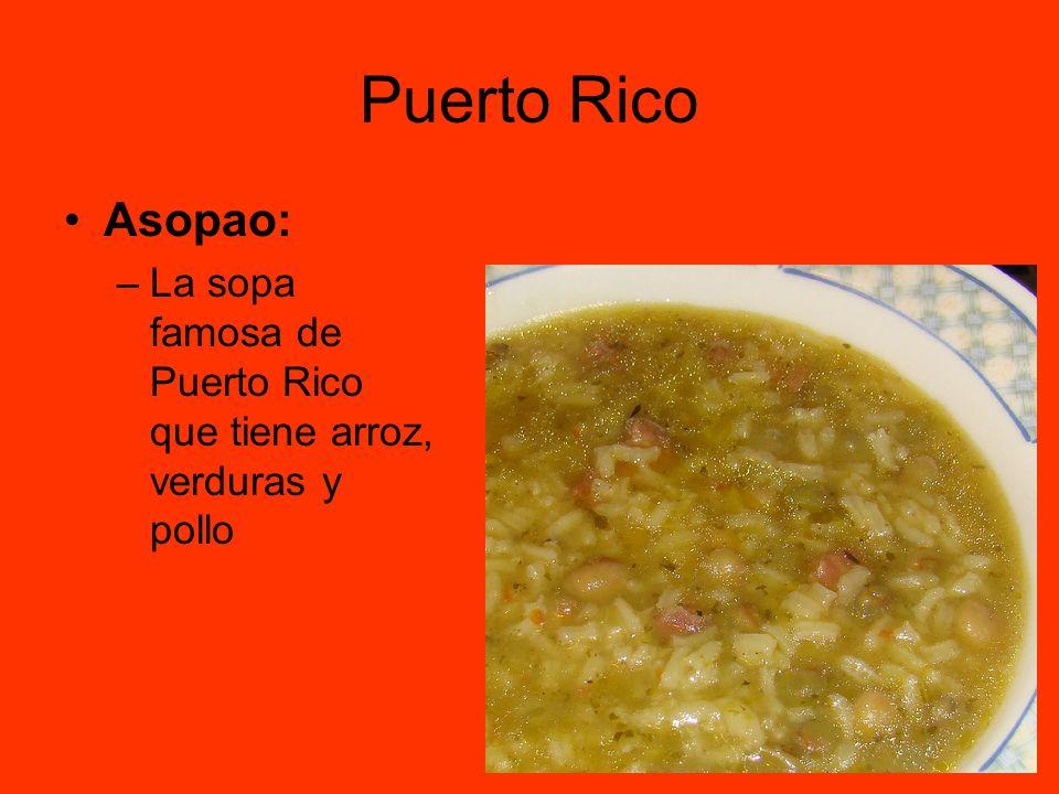 Puerto Rico Asopao: –La sopa famosa de Puerto Rico que tiene arroz, verduras y pollo