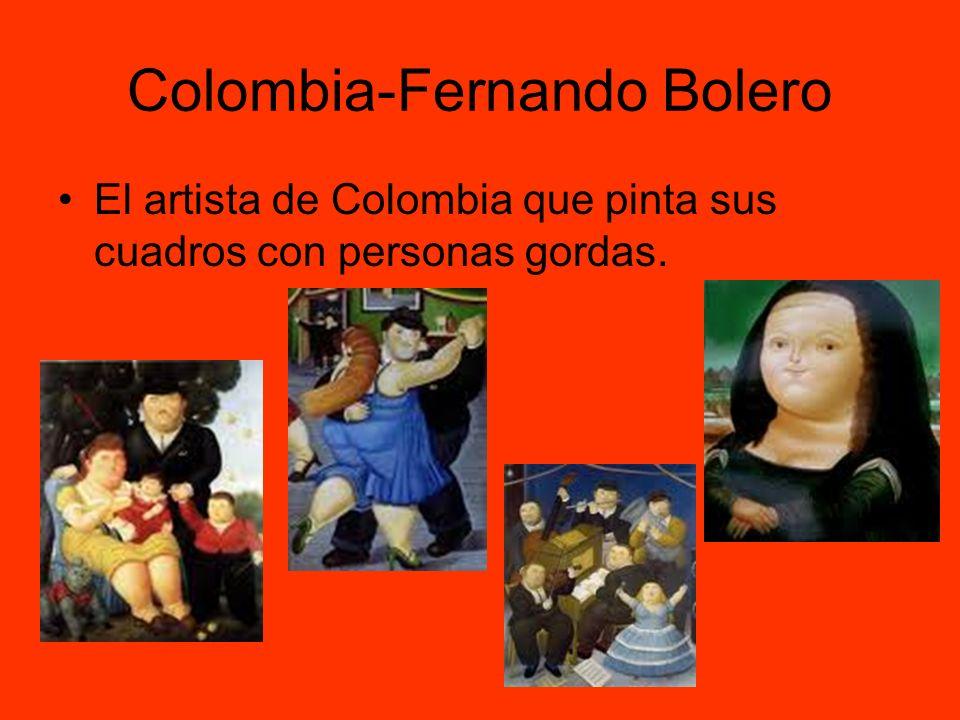 Colombia-Fernando Bolero El artista de Colombia que pinta sus cuadros con personas gordas.