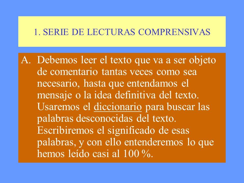 4. PARTES DEL COMENTARIO DE TEXTOS LITERARIOS 1.SERIE DE LECTURAS COMPRENSIVAS. 2.LOCALIZACIÓN DEL TEXTO. 3.RESUMEN DEL ARGUMENTO Y TEMAS. 4.ESTRUCTUR