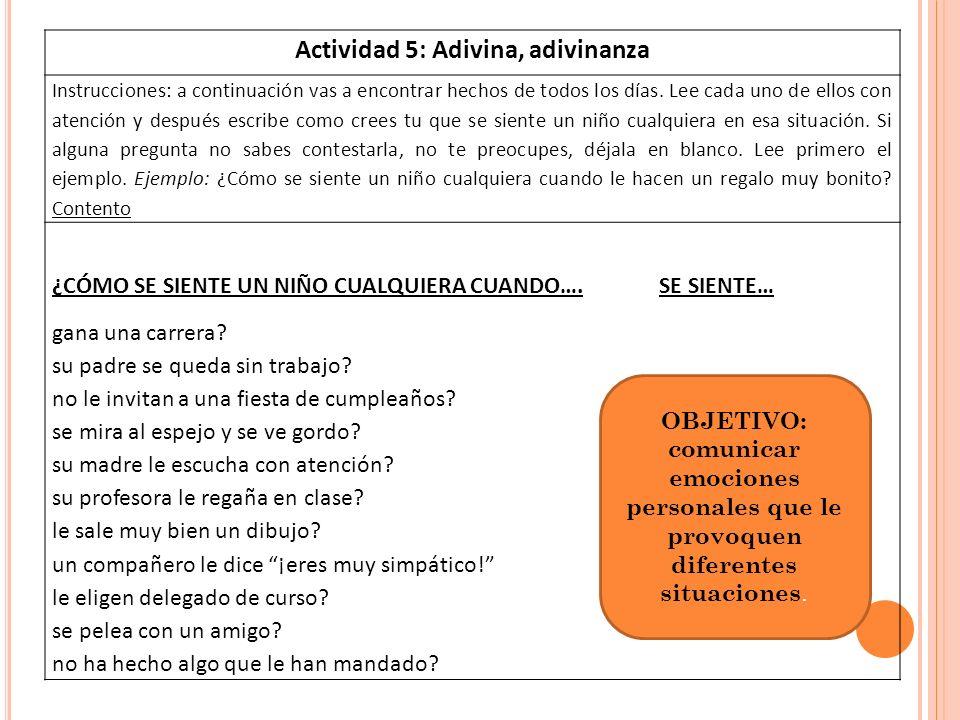 A CTIVIDAD 6: A UTOREGISTROS.