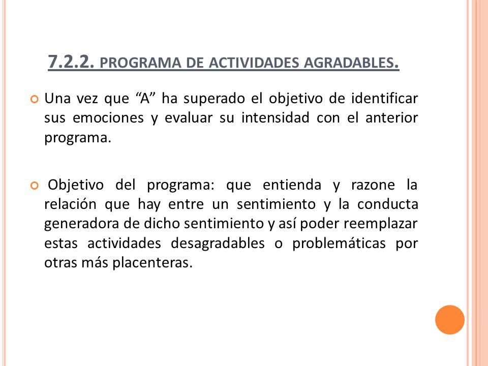 7.2.2.PROGRAMA DE ACTIVIDADES AGRADABLES.