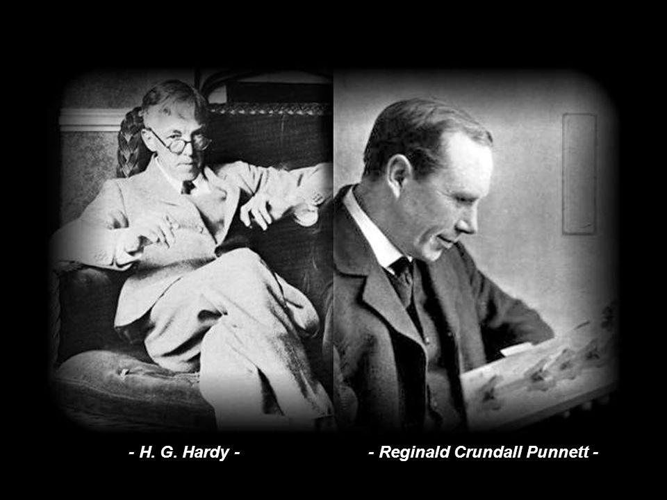 Se podrá dudar de que el pasatiempos de G. H. Hardy en el restaurante se pueda considerar una incursión en la genética, pero de lo que esta anécdota n