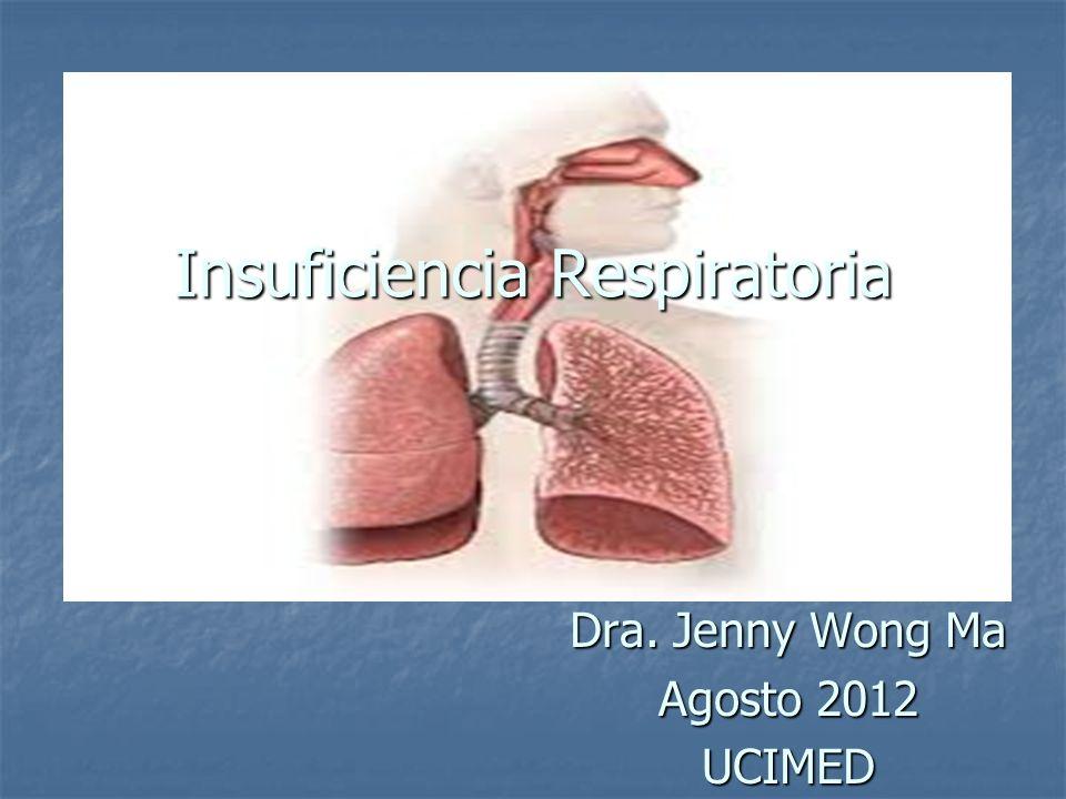 Definición Síndrome en el cual el sistema respiratorio presenta una incapacidad para mantener una adecuada oxigenación de la sangre y eliminación de CO2.