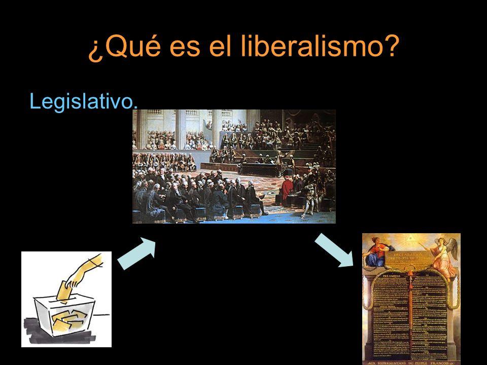 ¿Qué es el liberalismo? Legislativo.