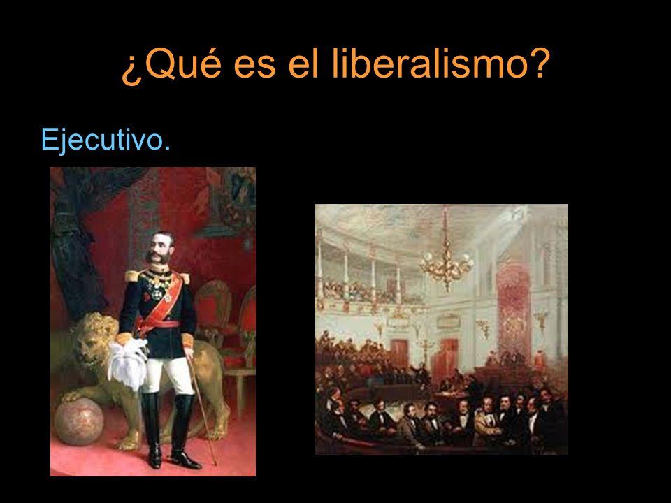 ¿Qué es el liberalismo? Ejecutivo.