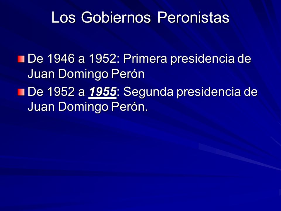 La Política Económica Peronista (2) Primera Fase: la expansión (1946- 1952).