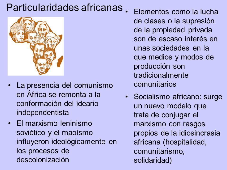 La presencia del comunismo en África se remonta a la conformación del ideario independentista El marxismo leninismo soviético y el maoísmo influyeron