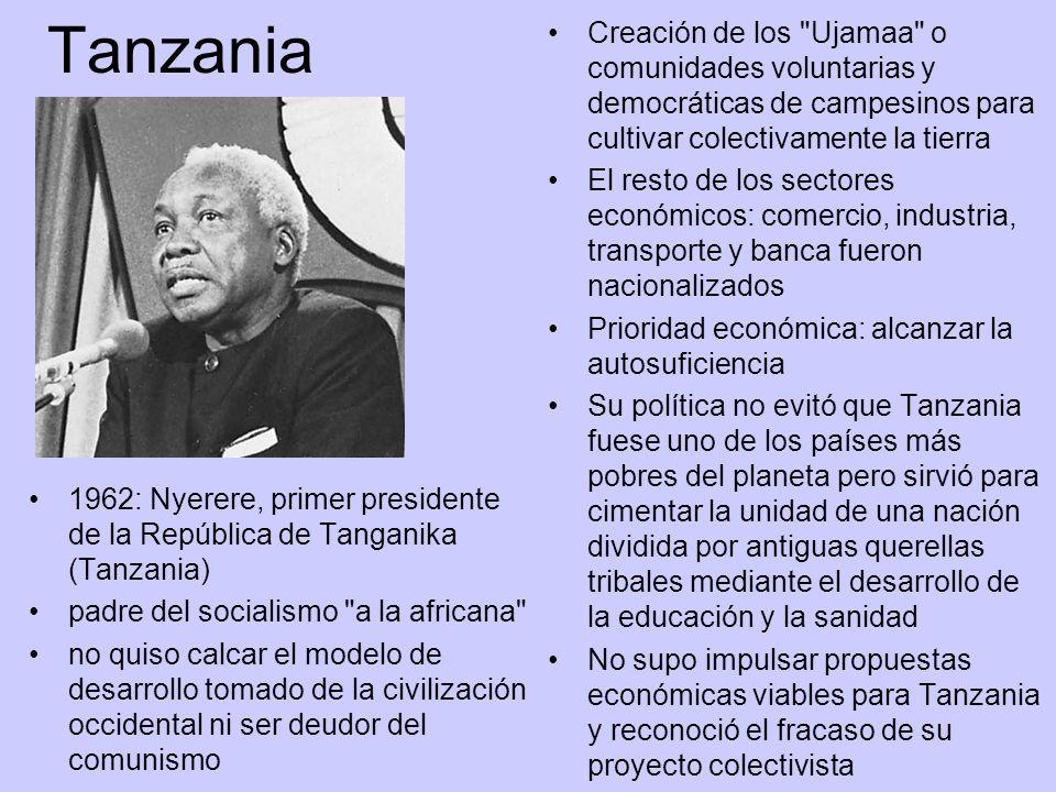 Tanzania 1962: Nyerere, primer presidente de la República de Tanganika (Tanzania) padre del socialismo