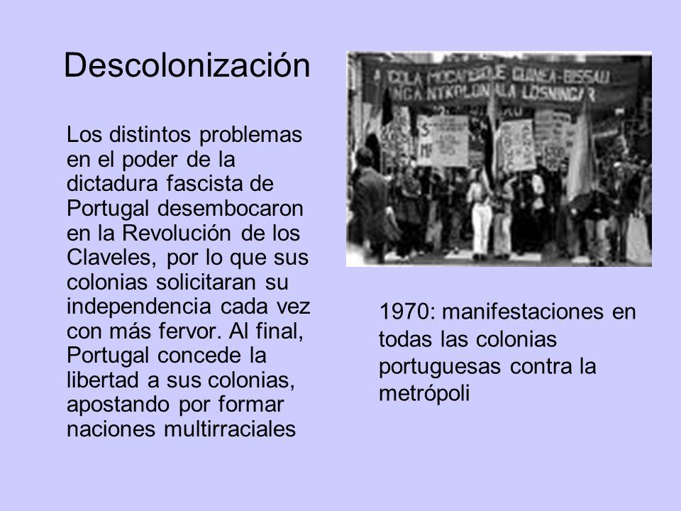 Los distintos problemas en el poder de la dictadura fascista de Portugal desembocaron en la Revolución de los Claveles, por lo que sus colonias solici
