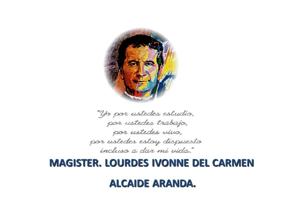 MAGISTER. LOURDES IVONNE DEL CARMEN ALCAIDE ARANDA. ALCAIDE ARANDA.