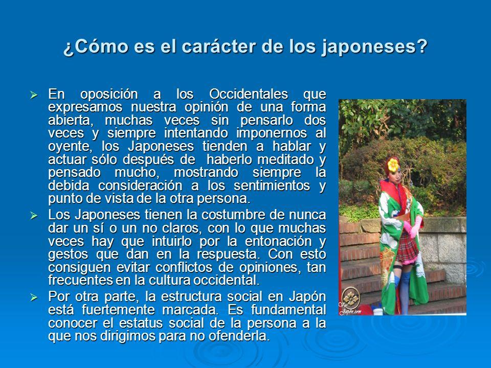 ¿Cómo es el carácter de los japoneses? En oposición a los Occidentales que expresamos nuestra opinión de una forma abierta, muchas veces sin pensarlo