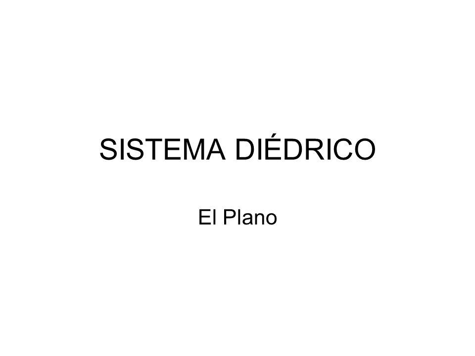 SISTEMA DIÉDRICO El Plano