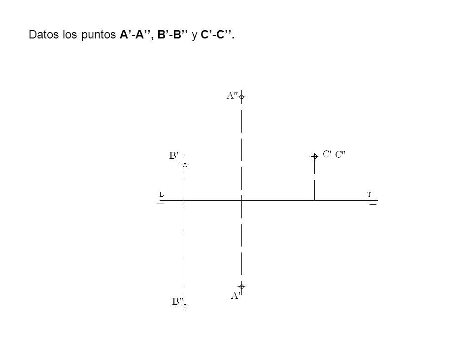 Datos los puntos A-A, B-B y C-C.