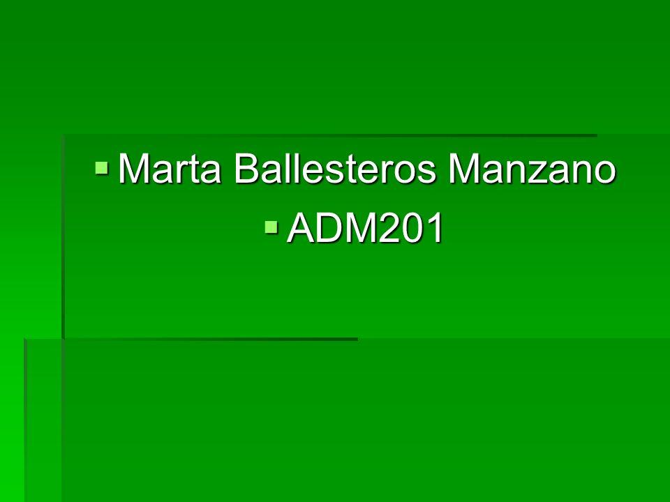 Marta Ballesteros Manzano Marta Ballesteros Manzano ADM201 ADM201