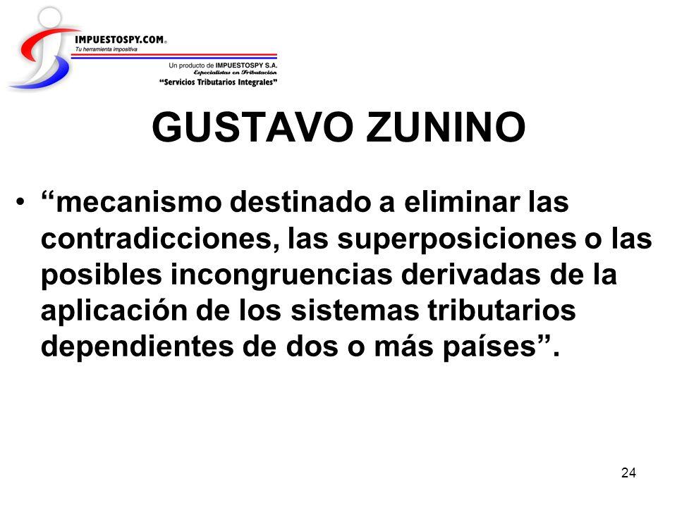 24 GUSTAVO ZUNINO mecanismo destinado a eliminar las contradicciones, las superposiciones o las posibles incongruencias derivadas de la aplicación de