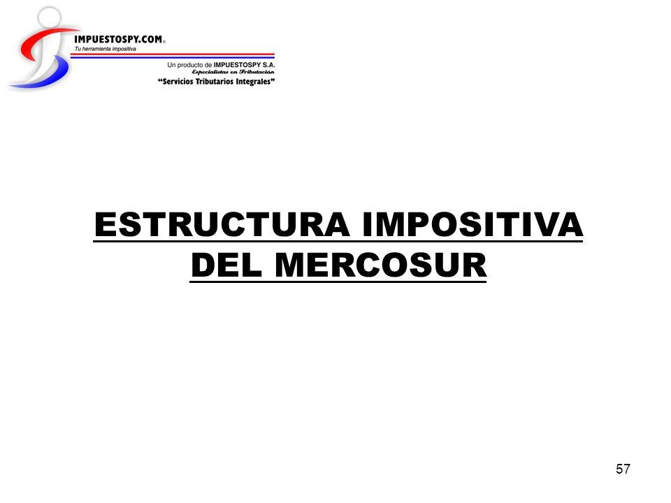 57 ESTRUCTURA IMPOSITIVA DEL MERCOSUR