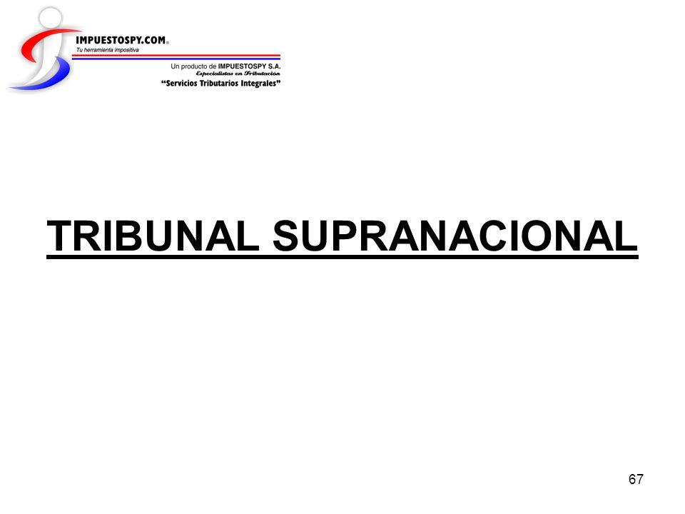 67 TRIBUNAL SUPRANACIONAL