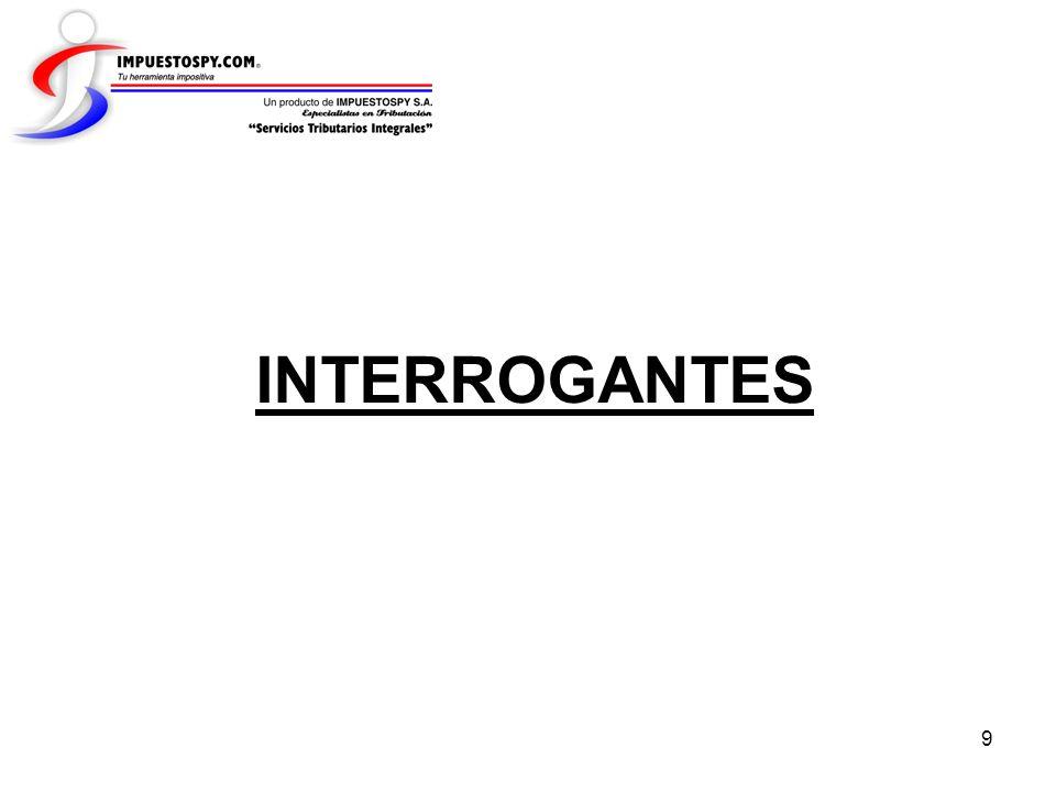 9 INTERROGANTES