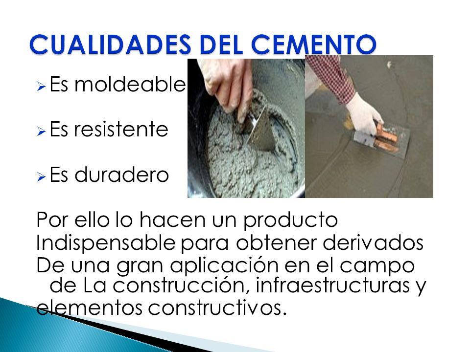 Es moldeable Es resistente Es duradero Por ello lo hacen un producto Indispensable para obtener derivados De una gran aplicación en el campo de La con