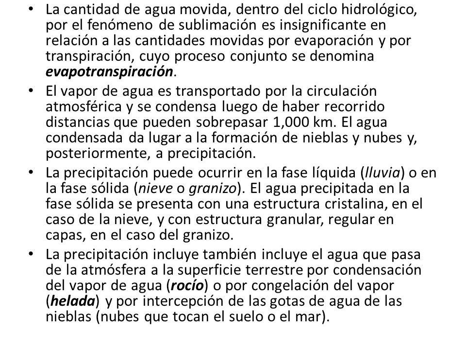 El transporte del vapor de agua, que se efectúa en las regiones inferiores de la troposfera, reino de los fenómenos meteorológicos, está considerablemente afectado por la topografía terrestre.