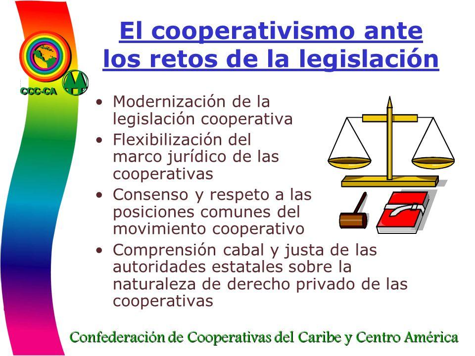 Confederación de Cooperativas del Caribe y Centro América El cooperativismo ante los retos de la legislación Modernización de la legislación cooperati
