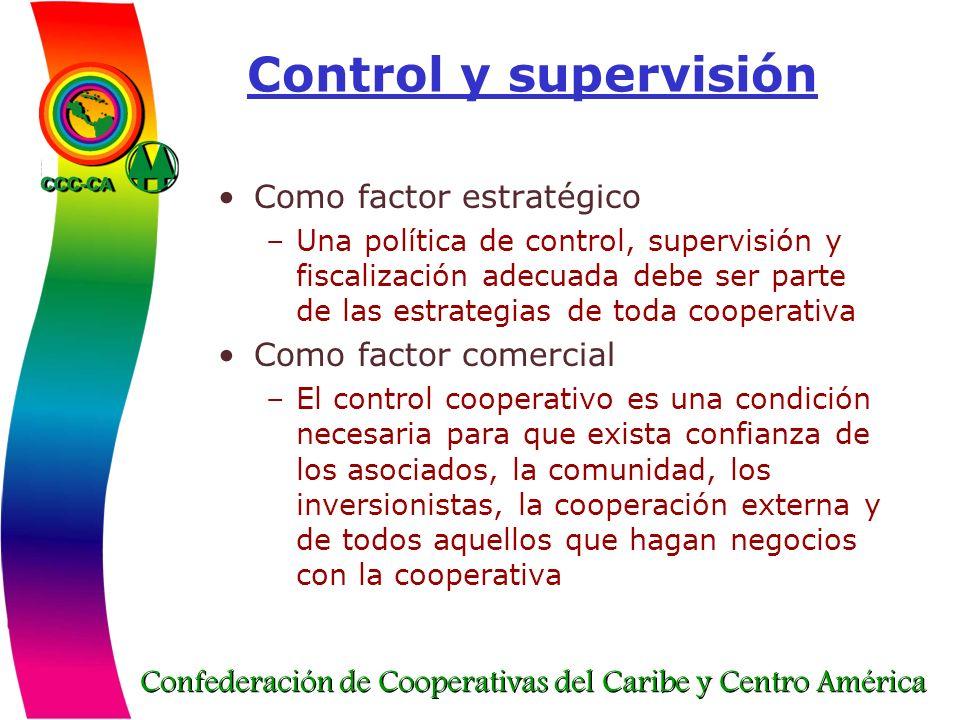 Confederación de Cooperativas del Caribe y Centro América Control y supervisión Como factor estratégico –Una política de control, supervisión y fiscal
