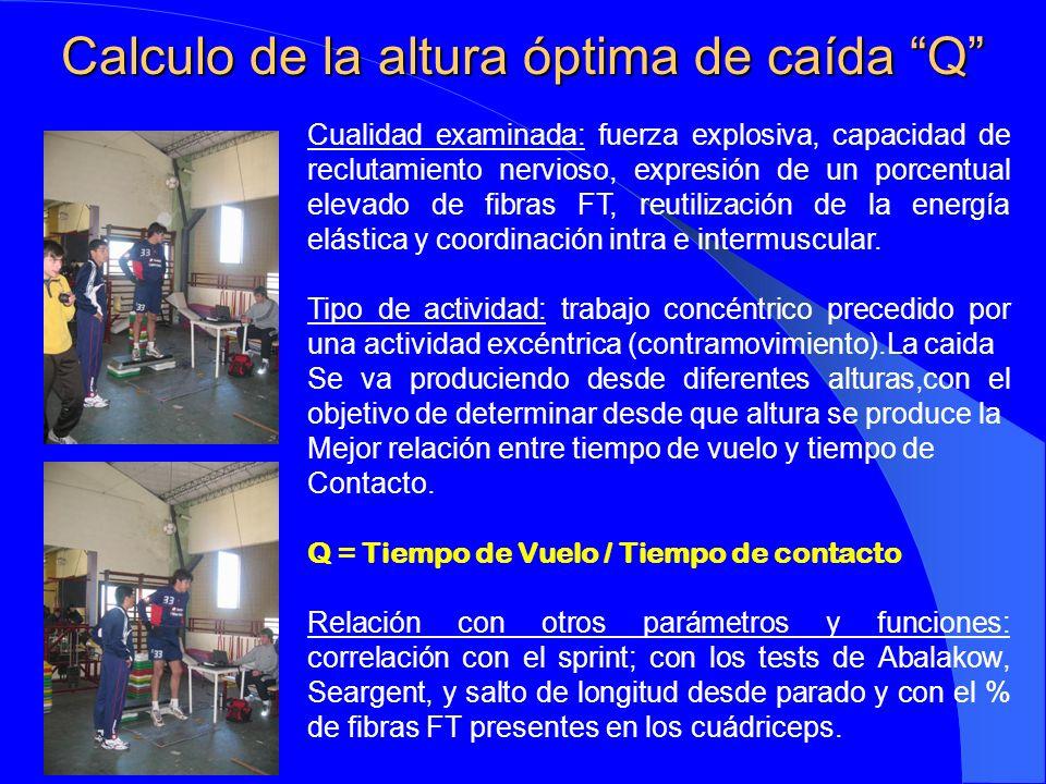 Cualidad examinada: valoración de los procesos metabólicos que mantienen el trabajo muscular durante un período de tiempo.