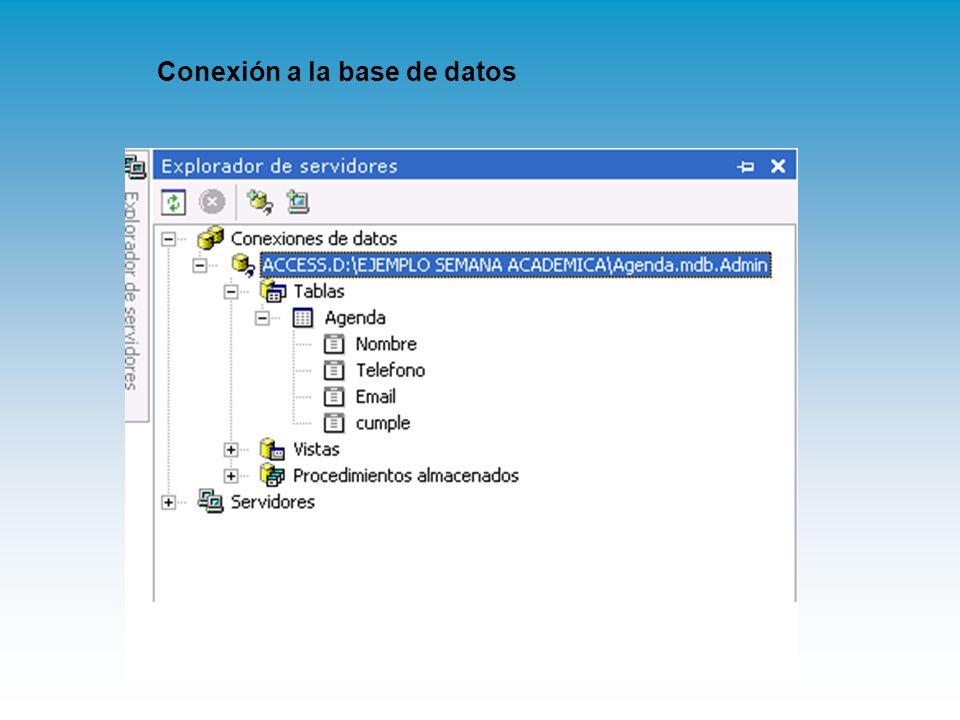 Conexión a la base de datos